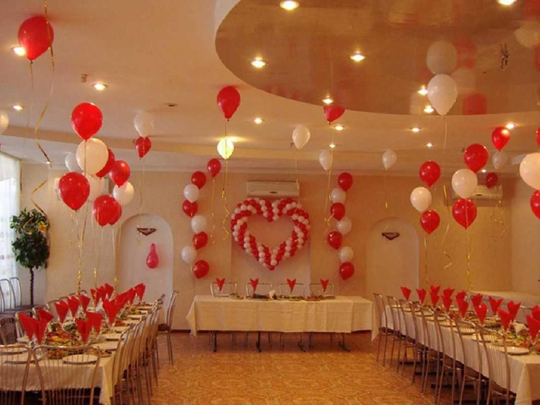 Своими руками украсить свадебный зал шарами