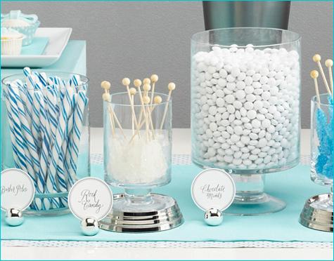 snezhnyj-kendi-bar-na-svadbu-6 Идея для зимней свадьбы: Снежный Кэнди Бар  какие сладости лучше использовать.