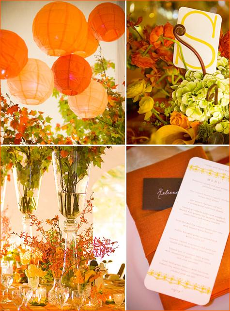 sochnaya-osennyaya-svadba-5 Идеи для создания яркой осенней свадьбы, как сделать уютное торжество в самое дождливое время года