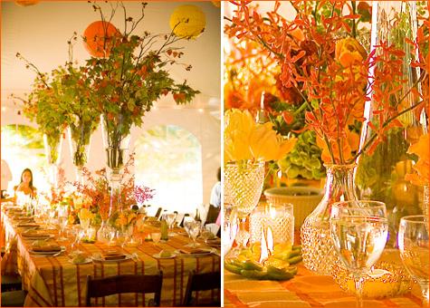 sochnaya-osennyaya-svadba-7 Идеи для создания яркой осенней свадьбы, как сделать уютное торжество в самое дождливое время года