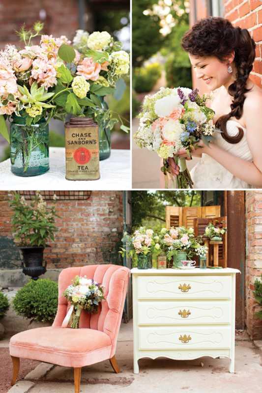 svadba-v-stile-chaya-2 Восхитительная винтажная свадьба в стиле зеленого чая, с нотками романтики и нежности