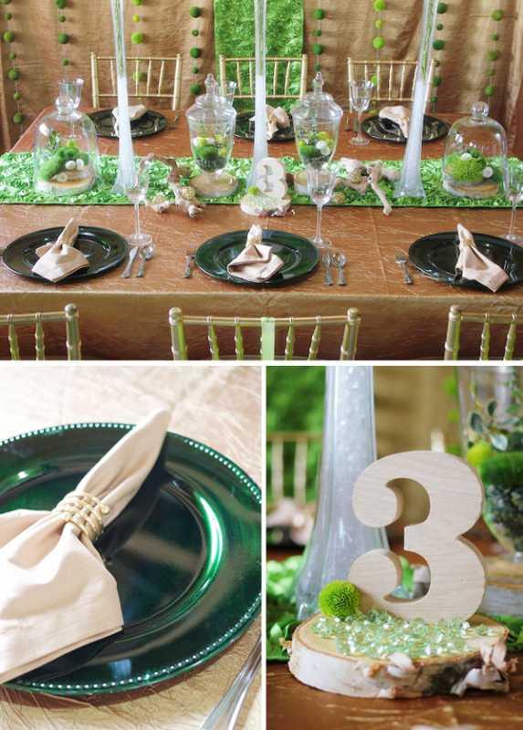 svadba-v-stile-zelenogo-sada-4 Яркая и сочная зеленая свадьба в стиле зимнего сада, простые идеи для вдохновения
