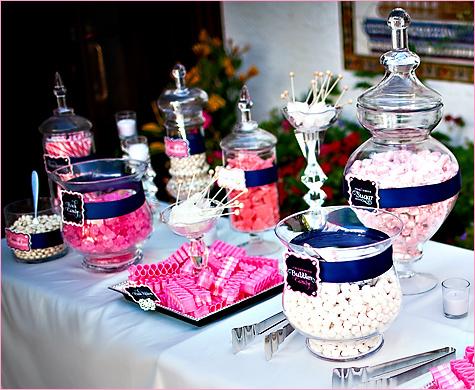 1-konfetnyj-stol-na-svadbe Кэнди бар на свадьбу- более 100 идей и решений