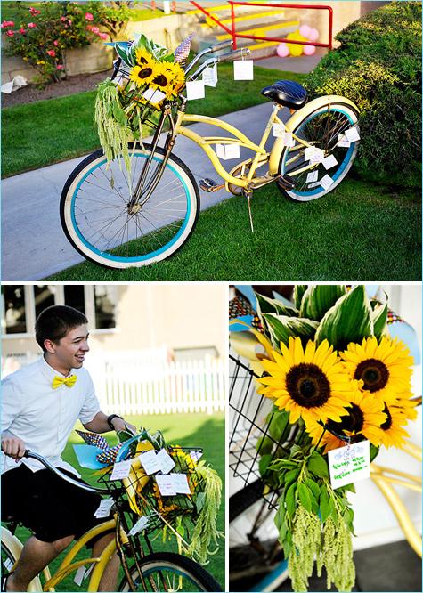 Яркая летняя свадьба для любителей велоспорта