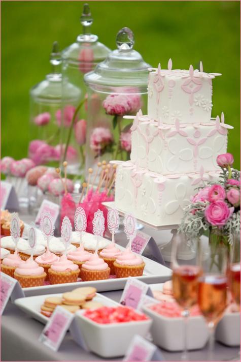 Нежнейший розовый Кэнди Бар, как отдельный элемент свадебного торжества