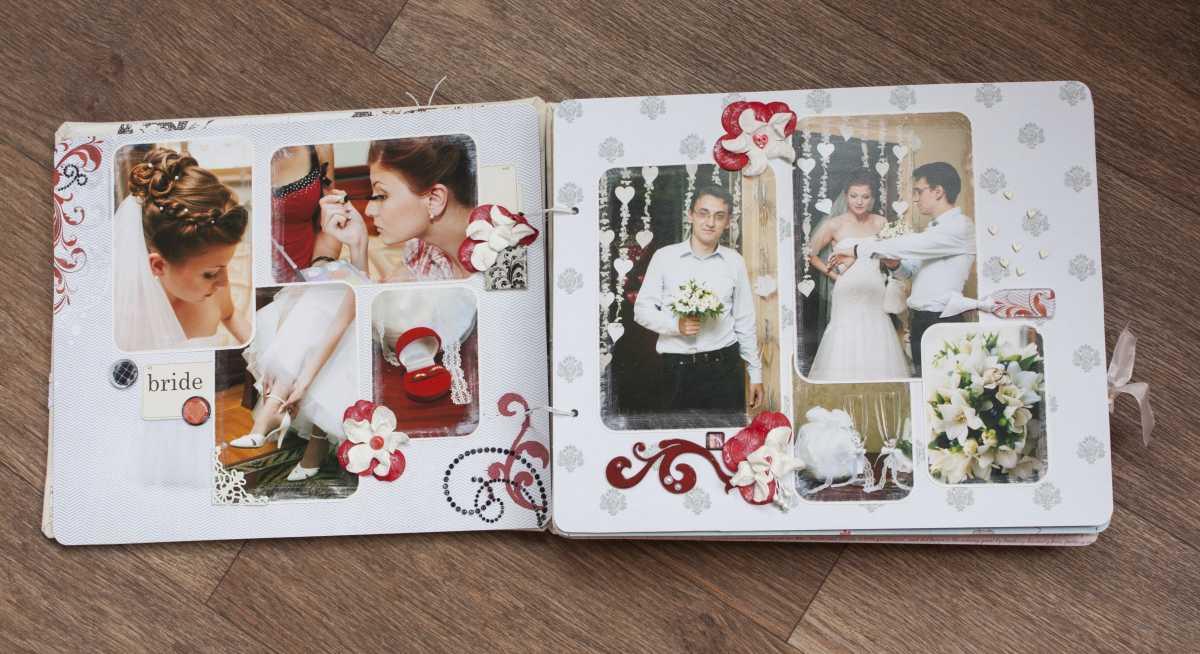 Оформление свадебных фотографий в альбом подручными средствами после торжества