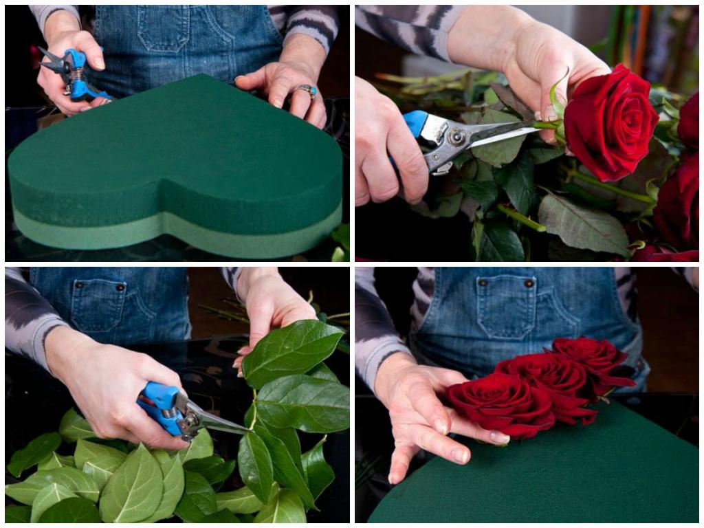 Сердце из цветов на свадьбу, на сколько просто изготовить самостоятельно?