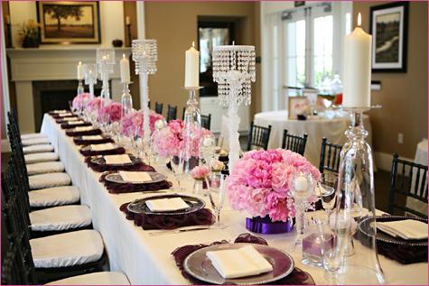 Сервировка свадебного стола в стиле Шанель – простой способ сделать торжество изысканным и стильным