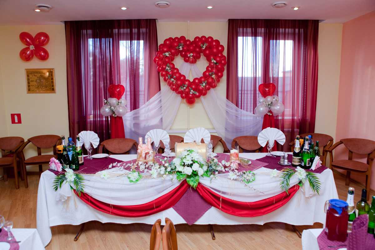Украшение из шаров на свадьбу своими руками, варианты использования воздушного декора