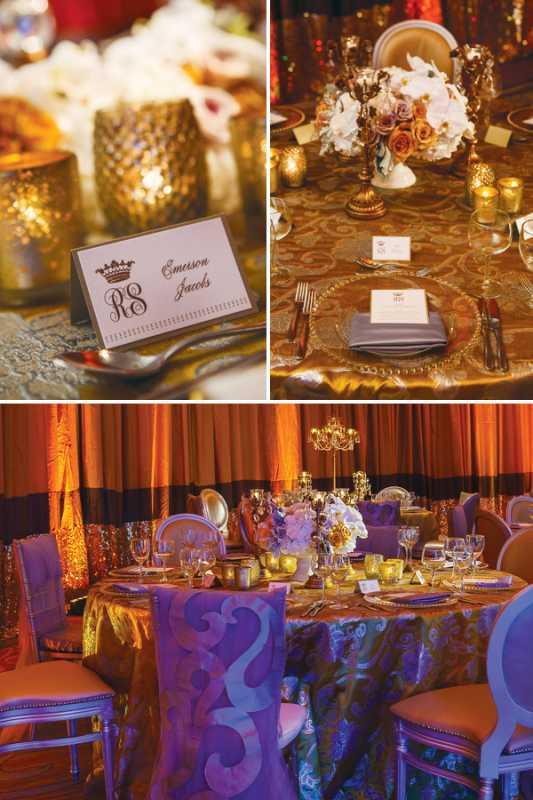 Свадьба в золотом цвете: особенности организации такого торжества