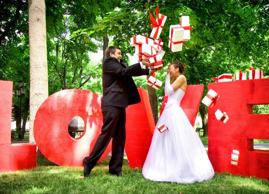 Оформление свадебной фотосессии  на природе, различные варианты декора