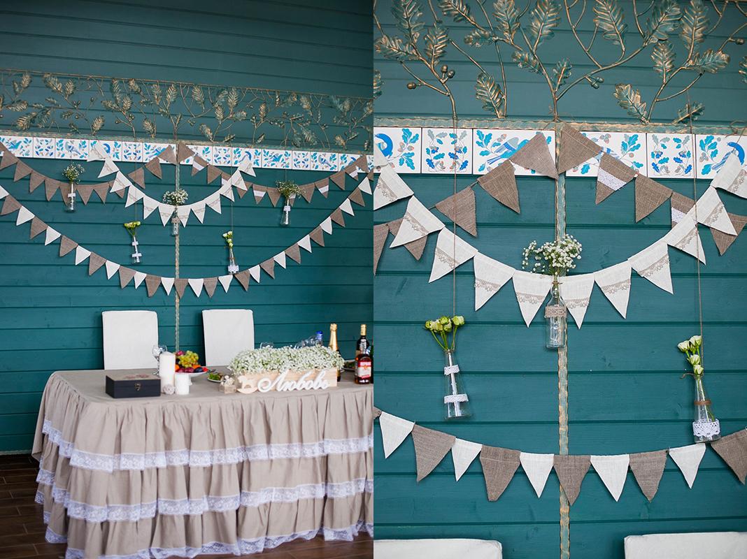 dekor-fona-molodozhenov-5 Свадебный декор: оформление фона за столом молодоженов