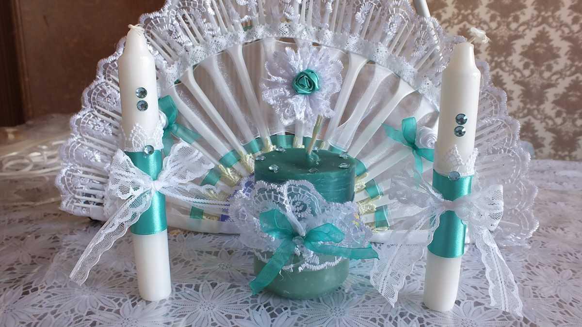 dekor-pokupnyh-svadebnyh-aksessuarov-2 Оформление свадебных аксессуаров, купленных в магазине, придаем им уникальность своими руками