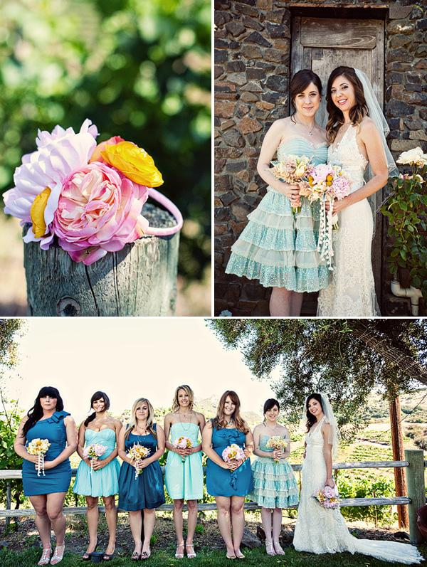 dekor-svadby-tsvetami-iz-bumagi-6 Декор свадьбы бумажными цветами, кто сказал что хендмейд не может быть модным?