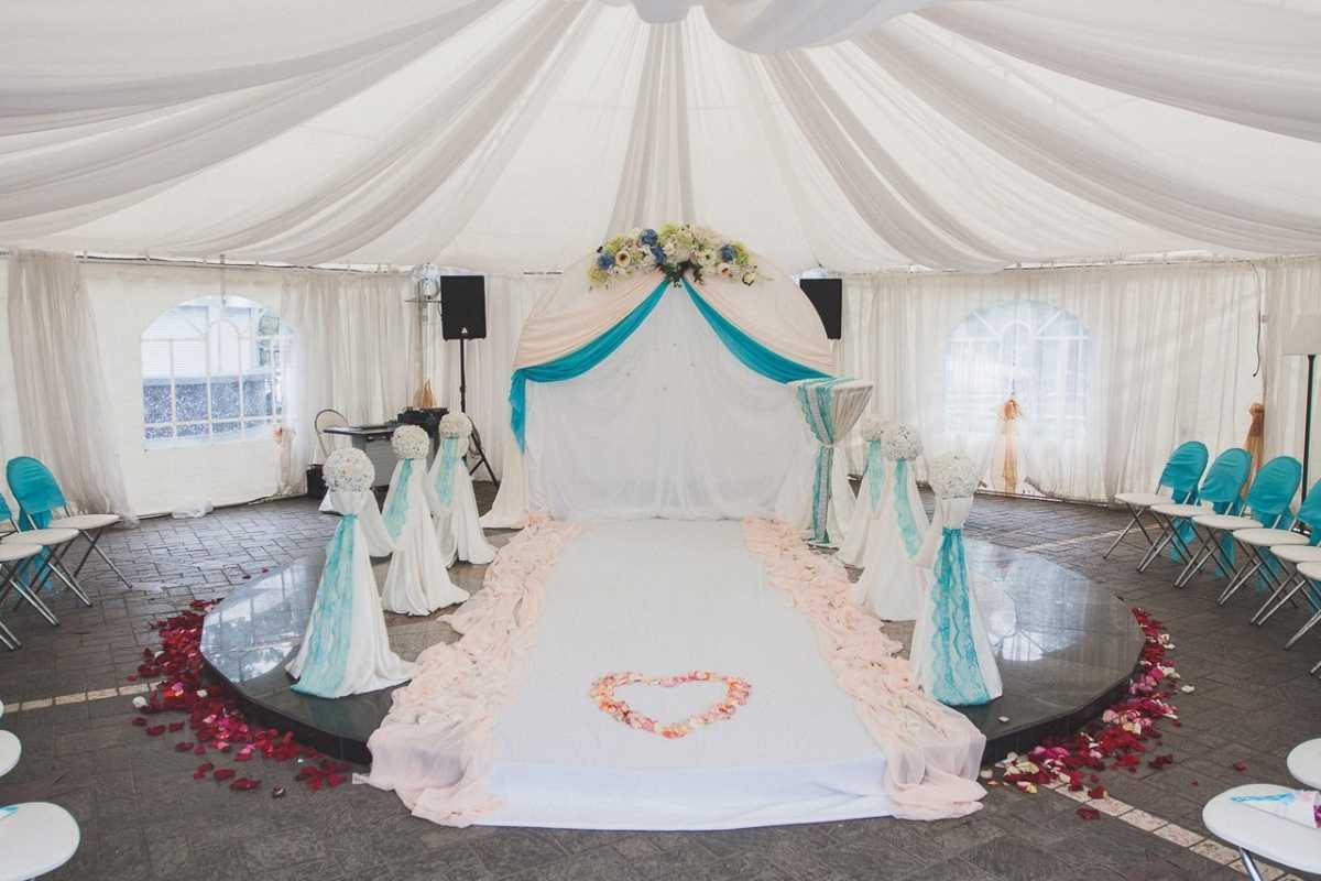 dekor-svadebnyh-shatrov-4 Оформление свадебных шатров при выездной церемонии регистрации брака