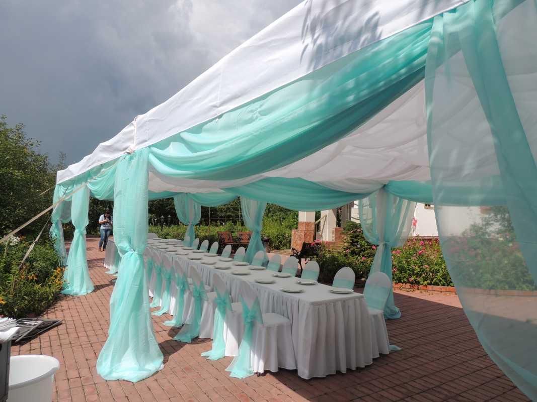 dekor-svadebnyh-shatrov-5 Оформление свадебных шатров при выездной церемонии регистрации брака