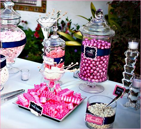 konfetnyj-stol-na-svadbe-4 Кэнди Бар наполненный одними конфетами, стандартный вариант десертного стола