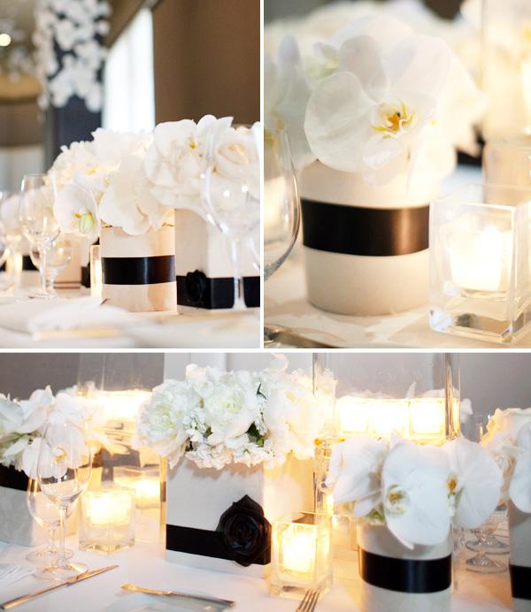 ofitsialnaya-svadba-v-stile-belo-chernyj-6 Официально и довольно строгое оформление свадьбы в белом цвете с использованием черного декора