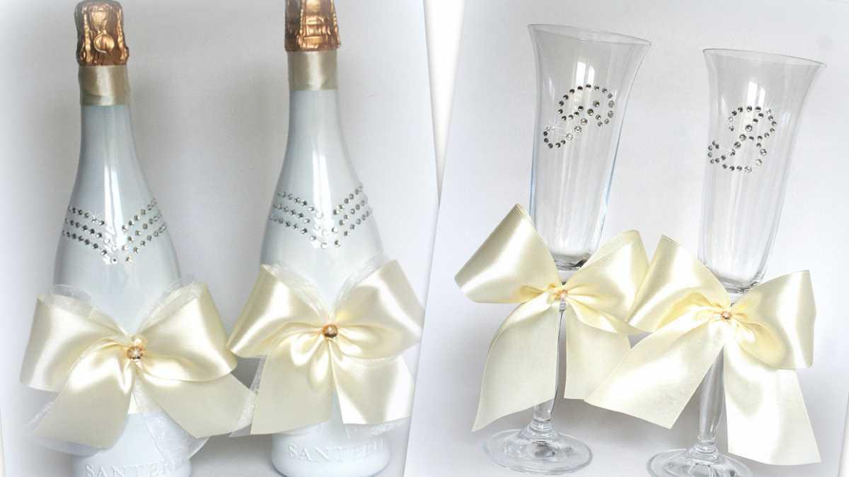 oformlenie-svadebnyh-butylok-2 Профессиональное оформление свадебных бутылок фото подборка самых удачных вариантов