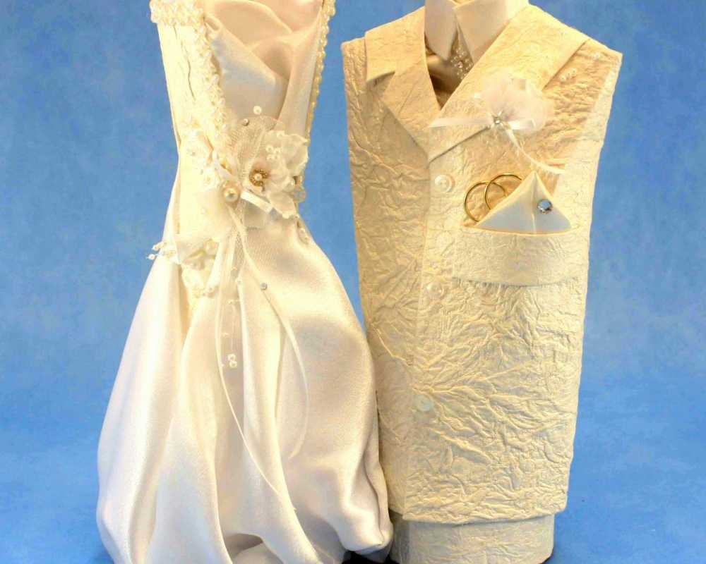 oformlenie-svadebnyh-butylok-9 Профессиональное оформление свадебных бутылок фото подборка самых удачных вариантов