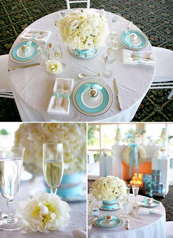 servirvoka-stola-dlya-zimnej-svadby-2 Сервировка свадебного стола в холодной голубой палитре для зимнего торжества