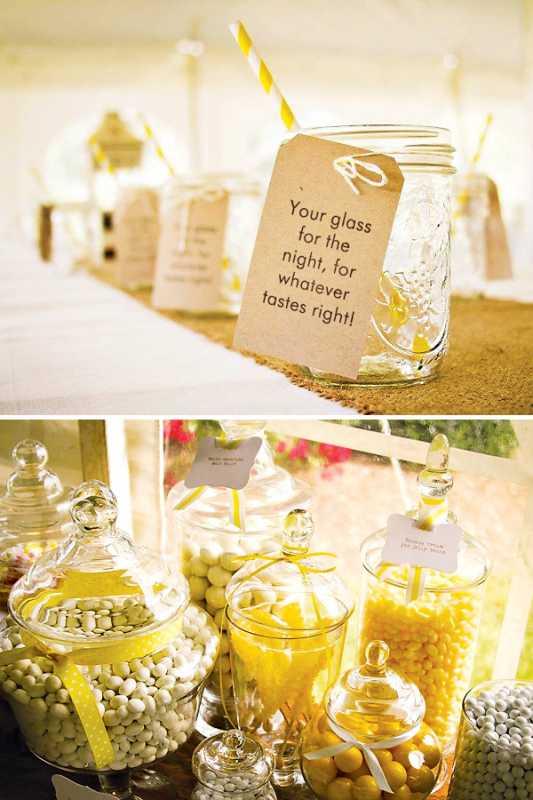 svadba-sladkij-rustik-2 Рустиковая свадьба, как разнообразить торжество желтым цветом?