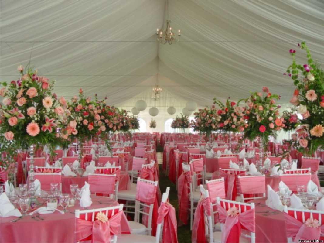 svadba-v-rozovom-tsvete-10 Розовое оформление свадебного зала, как не сделать торжество слишком девчачьем