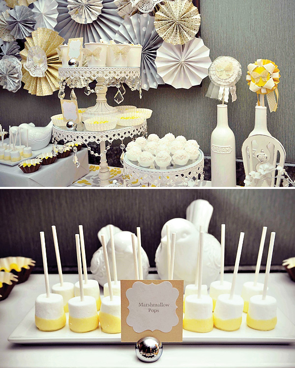 svadba-v-zhelto-serom-tsvete-8 Свадебный Кэнди Бар в желто-сером цвете сочетание яркости и строгости
