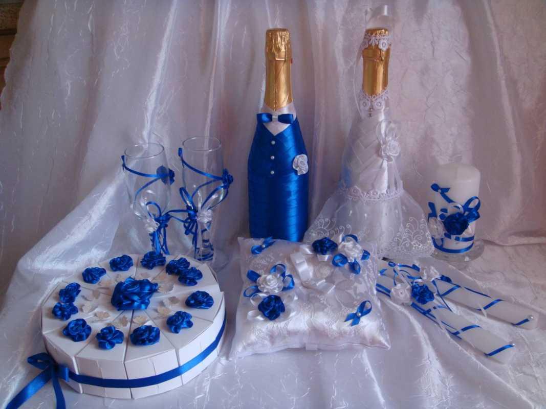 Оформление своими руками фужеров и шампанского на свадьбу своими руками