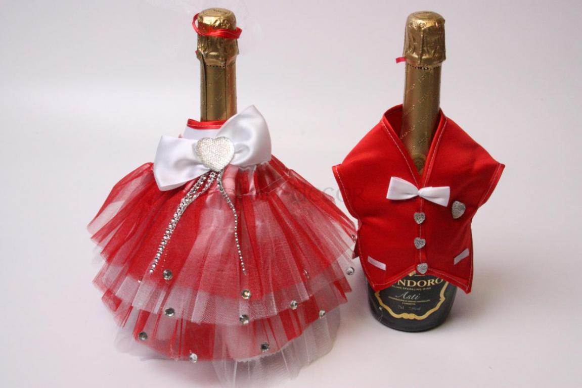 svadebnye-butylki-shampanskogo-4 Оформление свадебных бутылок шампанского: несколько идей по оформлению бутылок на свадьбе
