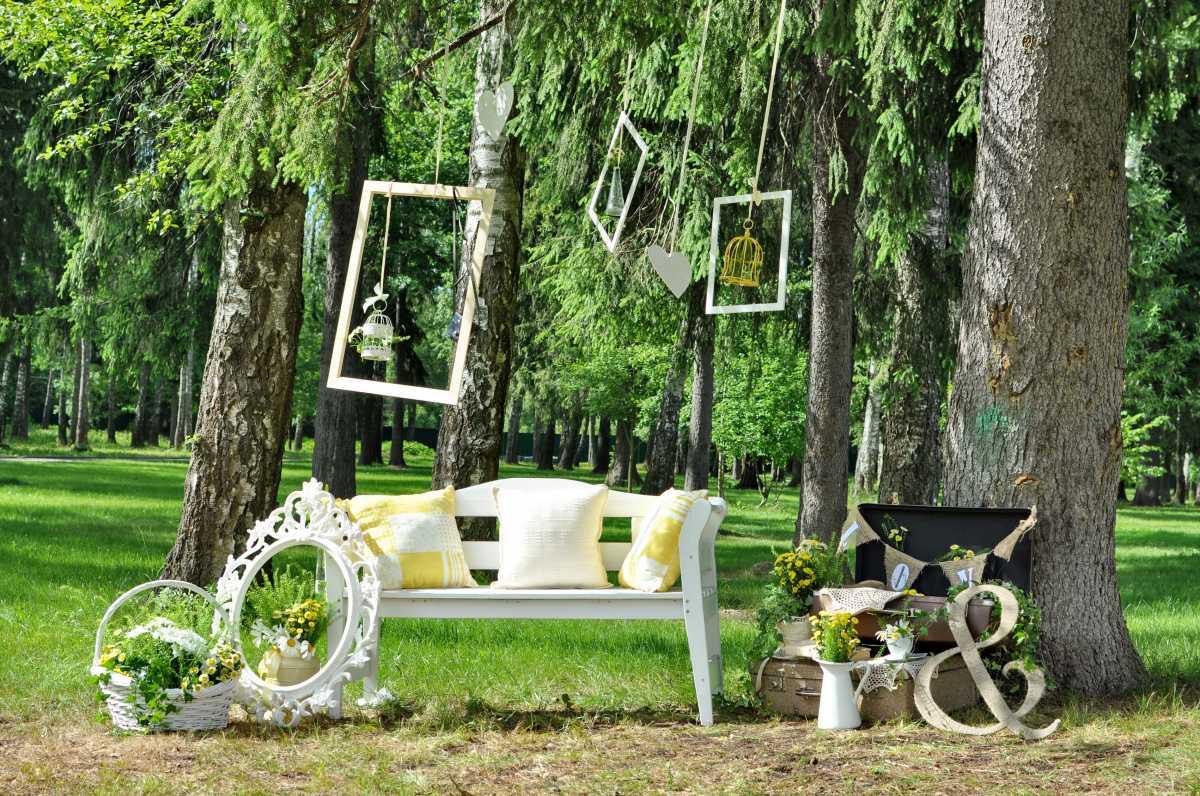 svadebnye-ramki-dlya-dekora-8 Свадебные рамки для оформления торжества в богемном и винтажном стиле