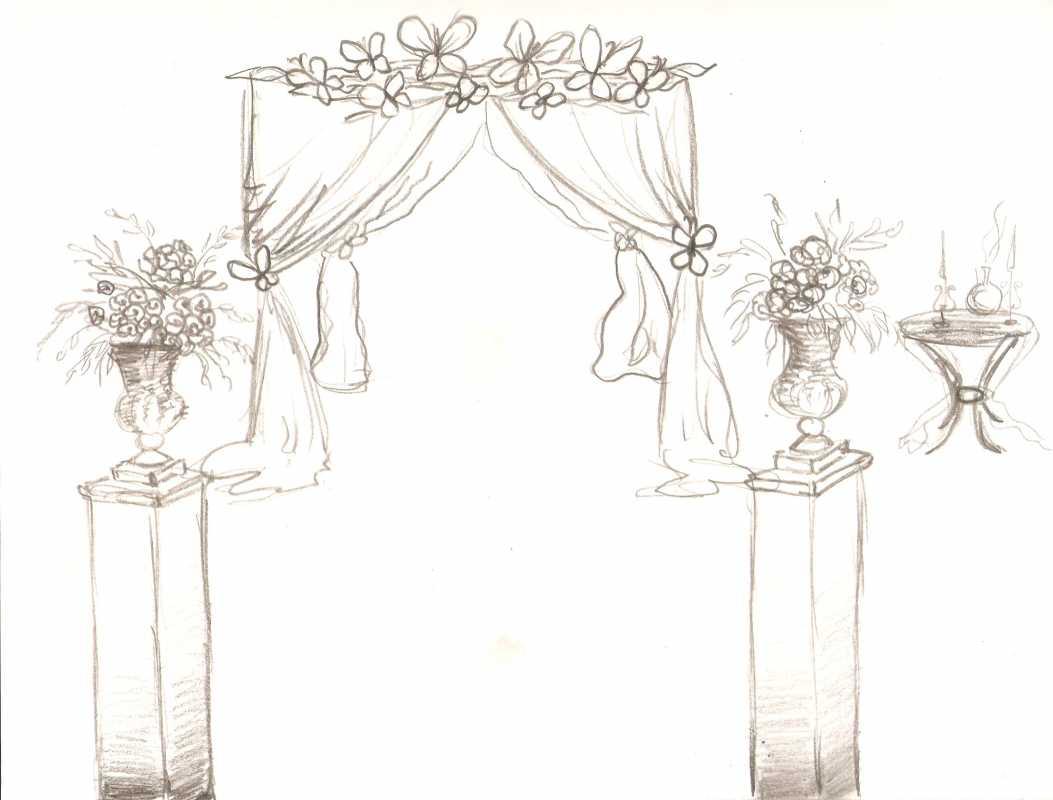 svadebnyj-eskiz-svadby-3 Нужен ли эскиз свадебного оформления при заказе оформления зала в дизайнерском агентстве