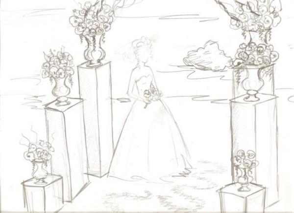 svadebnyj-eskiz-svadby-4 Нужен ли эскиз свадебного оформления при заказе оформления зала в дизайнерском агентстве