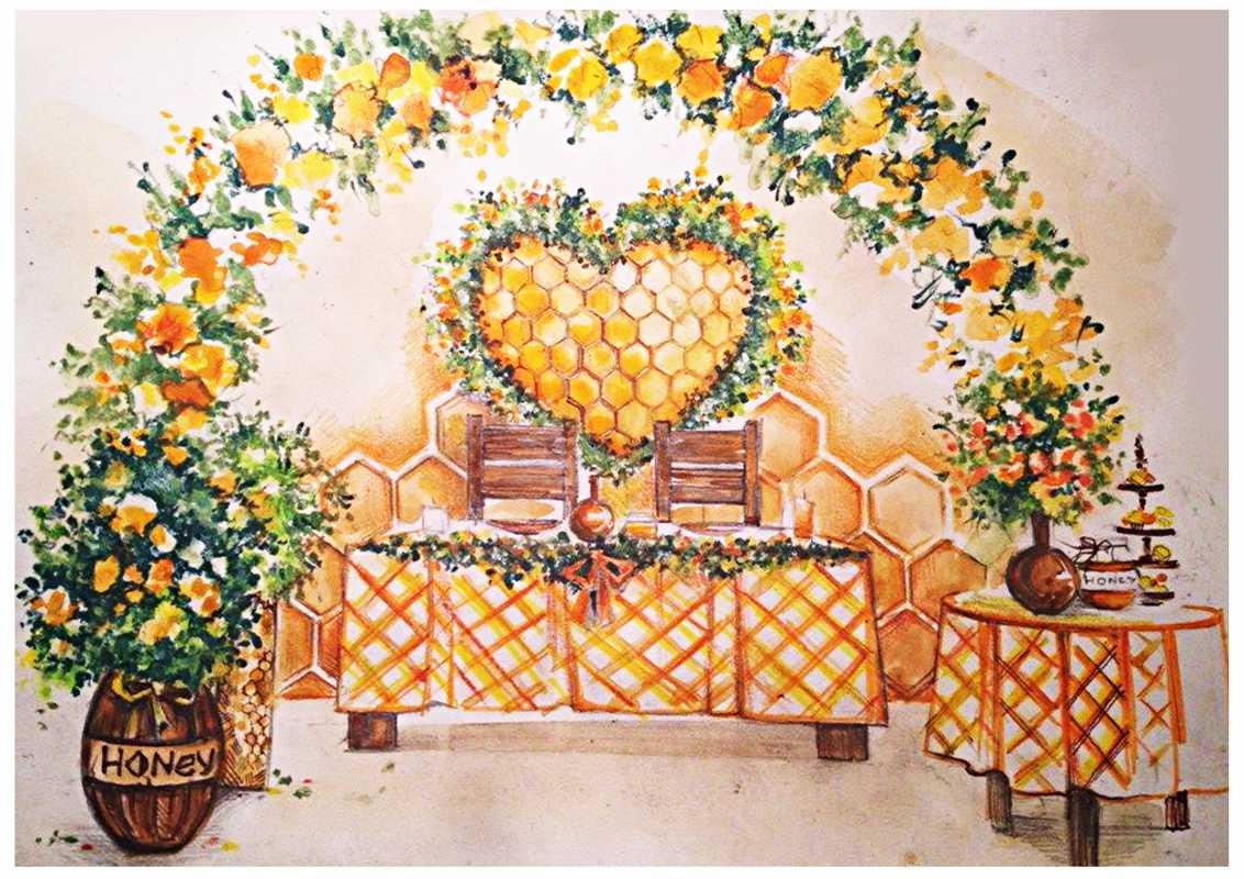 svadebnyj-eskiz-svadby-5 Нужен ли эскиз свадебного оформления при заказе оформления зала в дизайнерском агентстве