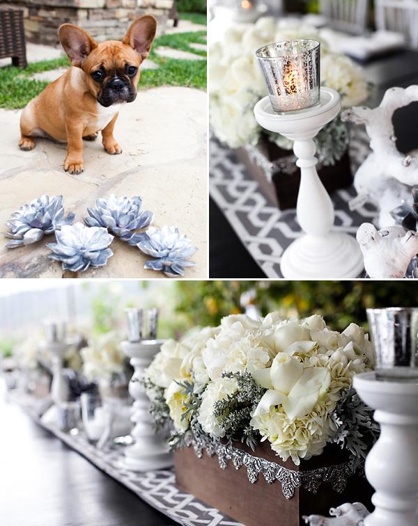 svadebnyj-stol-v-belom-tsvete-8 Сервировка свадебного стола в бело-серебряном цвете: сочетание изысканности и романтики