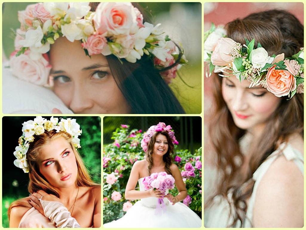 venok-dlya-nevesty-na-svadbu-4 Венки на голову из цветов на свадьбу, нежный свадебный аксессуар для волос невесты