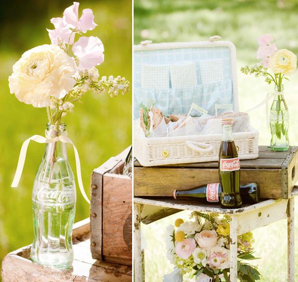 vintazhnaya-svadba-v-stile-kola-10 Винтажная свадьба в оформлении которой ведущую роль занимают бутылочки Кока-Колы