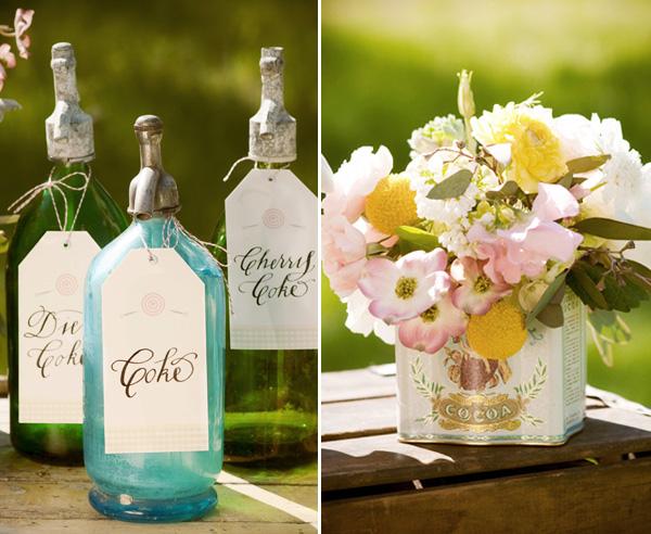 vintazhnaya-svadba-v-stile-kola-5 Винтажная свадьба в оформлении которой ведущую роль занимают бутылочки Кока-Колы