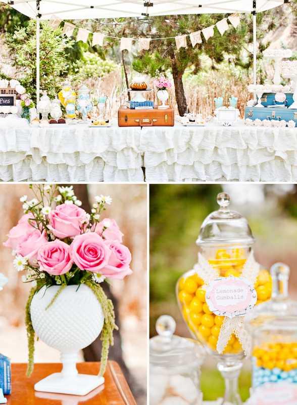vintazhnyj-desertnyj-bar-11 Организуем винтажный Кэнди Бар на тематическом свадебном торжестве
