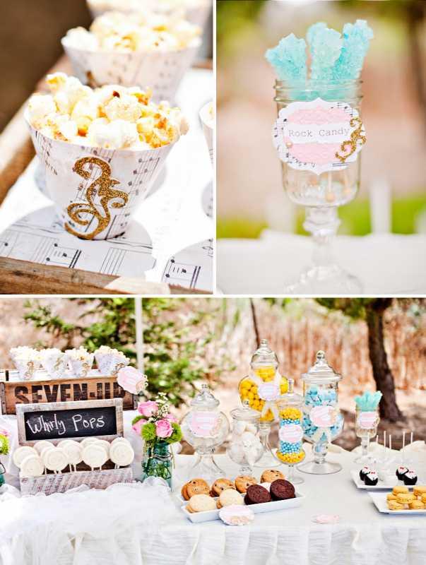 vintazhnyj-desertnyj-bar-5 Организуем винтажный Кэнди Бар на тематическом свадебном торжестве