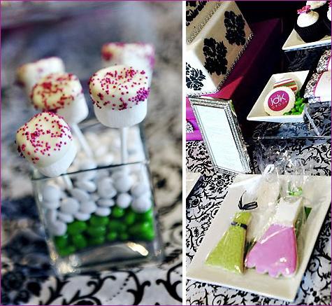 yarkij-Kendi-bar-na-svadbu-4 Яркий свадебных Кэнди бар в необычном сочетании фиолетового, розового и зеленого цвета