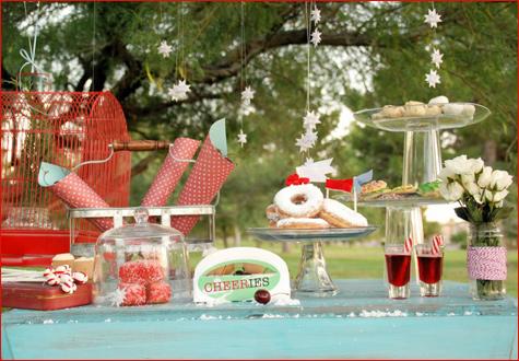 zimnij-svadebnyj-Kendi-Bar-letom-7 Свадьба летом: необычный зимний свадебный Кэнди Бар в самый разгар летнего торжества