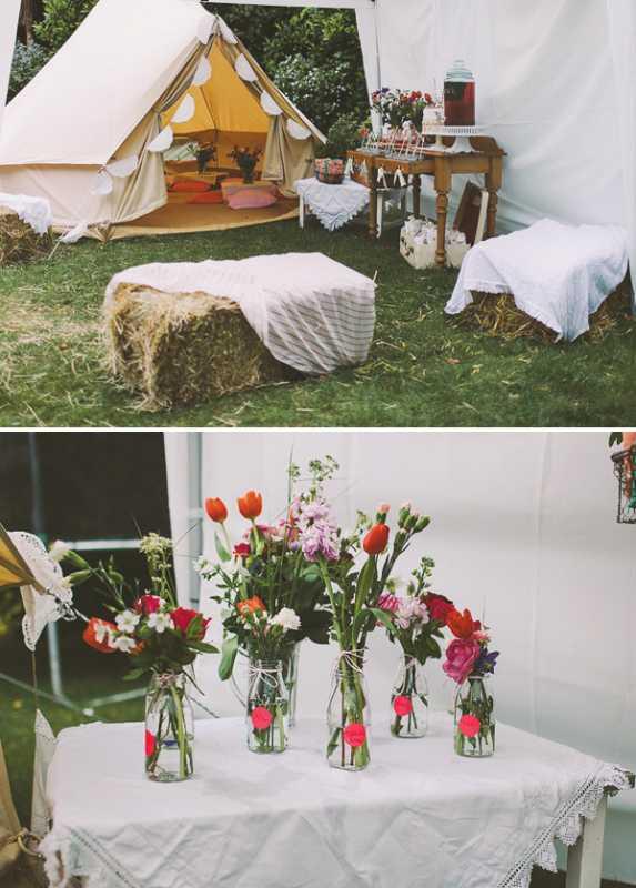 devichnik-rustik-7 Рустиковый девичник в палатках, идея для проводения  на природе предсвадебной вечеринке невесты
