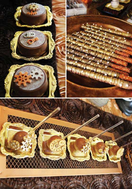 kendi-bar-na-svadbe-stimpank-3 Буйство шестеренок, механизмов и металлов в удивительном свадебном Кэнди Баре в стиле Стимпанк