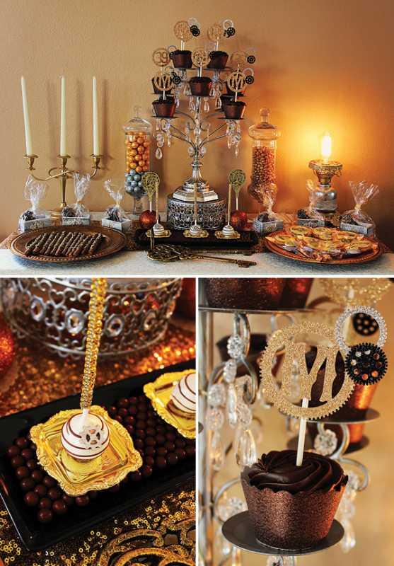 kendi-bar-na-svadbe-stimpank-7 Буйство шестеренок, механизмов и металлов в удивительном свадебном Кэнди Баре в стиле Стимпанк