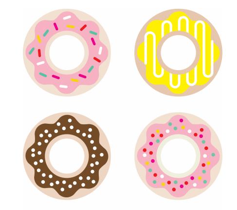 ponchiki-v-dekore-svadby-6 Пончики в декоре свадьбы + бесплатные макеты для печати