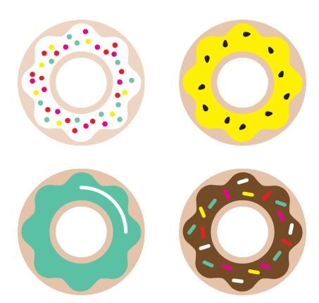 ponchiki-v-dekore-svadby-7 Пончики в декоре свадьбы + бесплатные макеты для печати