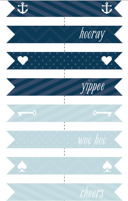 sinie-flazhki Бесплатные шаблоны для распечатки свадебных флажков