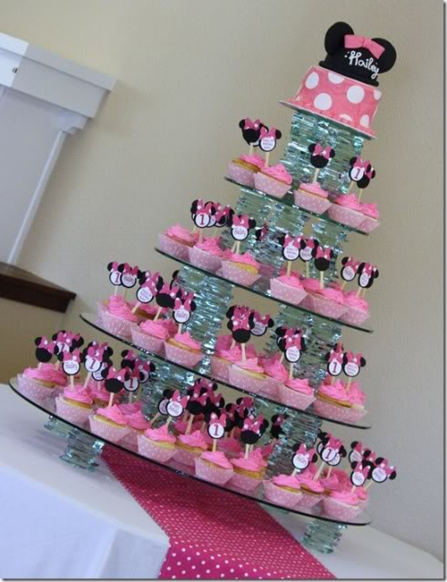 Tort-s-kapkejkami Свадьба в стиле Микки Мауса и Минни